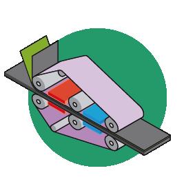 Flatbed press 1 bonding layer