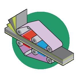 Flatbed press 2 bonding layers