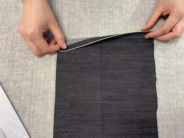 Heming folding process with PSA hotmelt adhesive film
